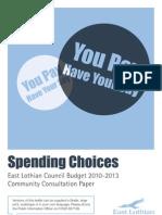East Lothian Council - Spending Choices 09 Expanded Paper 26 10 v1
