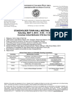 ECWANDC Town Hall Meeting Agenda - May 3, 2014