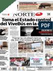 Periódico Norte de Ciudad Juárez edición impresa del 18 mayo de 2014