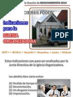 R2014 Indicaciones Iglesia Organizadora