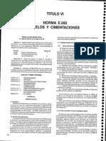 Norma e.050 Suelod y Cimentaciones