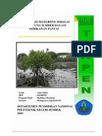 Konservasi Mangrove Sebagai Pendukung Sumber Hayati Perikanan Pantai