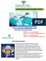Laminotomy Surgery at Best Spine Surgery Hospitals in India