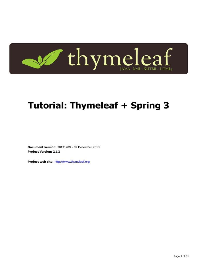 Thymeleaf-Spring3 | Java Server Pages | Html Element