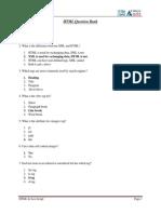 Question Bank of HTML & Java Script