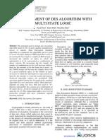 Enhancement of DES Algorithm with Multi State Logic