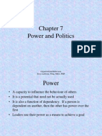 Organizational Behaviour Chapter 7 - Power and Politics