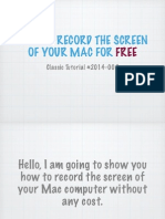Tutorials #2 How to Record Screen of Mac