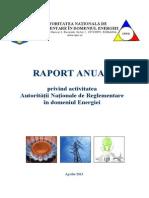 Raport Anual ANRE 2012