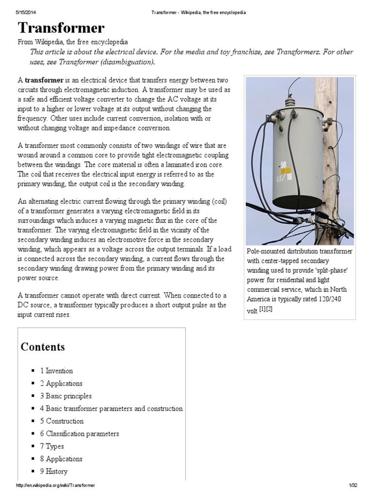 Transformer Winding Types