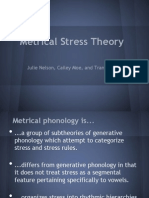 Metrical Syllable Phonology (3)