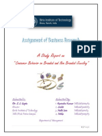 Assignment of Business Research A Study Report on