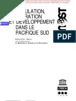 POPULATION, MIGRATION ET DÉVELOPPEMENT DANS LE PACIFIQUE SUD
