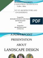 Landscape Design presentation
