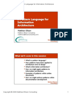 Pattern Language for Information Architecture