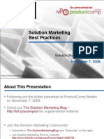 Solution Marketing Best Practices and Case Studies (Software)
