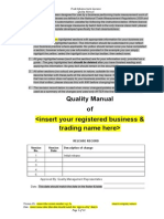 Quality Manual draft