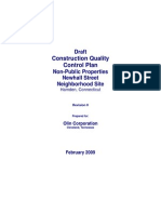 Construction Quality Control Plan Draft