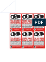 Surveillance Sticker