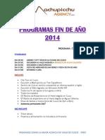 Machu Picchu Agency - Programas Fin de Año 2014 Jpg