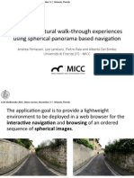 Improving cultural walk-through experiences using spherical panorama based navigation