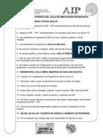 Normas de Convivencia Del Aula de Innovación Pedagógica