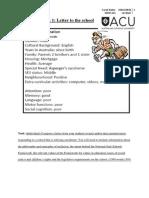 assessment task 1 letter