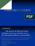 Fibromul Uterin e