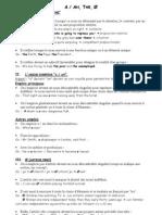 Fiche Grammaire Articles