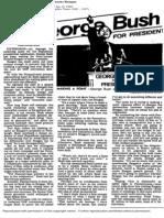 Bush Ends His Waiting Game, Attacks Reagan ~ Robert Shogan, LA Times