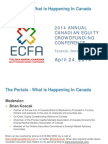 ECFA Toronto Conference Portal Presentation