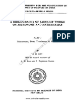 A Bibliography of saskrit work on astronomy and mathematics