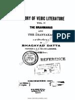 A History of Vedic Literature, Vol. 2
