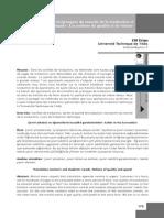 Besoins Réciproques Du Marché de La Traduction Et Des Apprenants