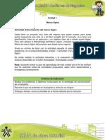 Actividad de Aprendizaje Unidad 1, Estructuración Del Marco Lógico (1)