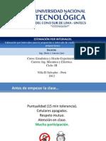 Mecanica y Eléctrica - Semana 6 y 7, Intervalos de Confianza PROPORCIÓN
