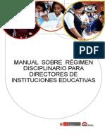 Manual Directores Regimen Disciplinario 2014 Ed
