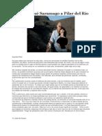 Carta de José Saramago a Pilar Del Río