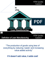 Introduction to Lean Manufacturing