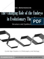 The Changing Role of the Embryo in Evolutionary Thought_ Roots of Evo-Devo - Ronald Amundson