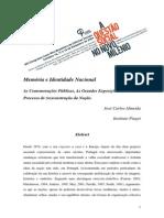 José Carlos Almeida, Memória e Identidade Nacional