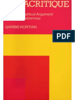 Garbis Kortian Metacritique the Philosophical Argument of Jurgen Habermas
