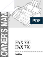 Brother IntelliFAX 770 Home-Office Fax Machine