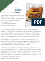 hawaiian chicken burger tupperware