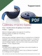 Gâteau micro tasse- Tupperware