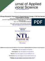 Change Recipient's Reactions to Organizational Change.
