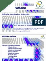 UFABC_EN2708_FOTONICA_Aula 08 - Difração, Coerencia e Holografia