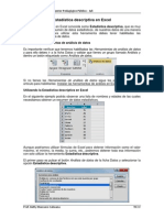 Estadística Descriptiva en Excel