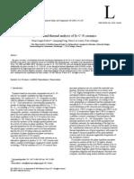Equilibrio de Fases y Análisis Térmico de Si-C-N Cerámica