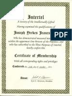 Intertel Lifetime Membership